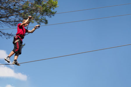 Adventure ropes courses in the trees